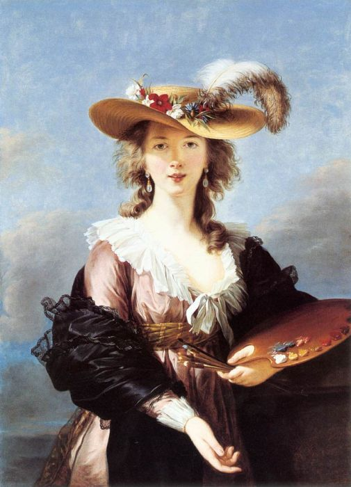Paintings Reproductions Vigee-Lebrun, Elisabeth Self-Portrait in a Straw Hat, 1782