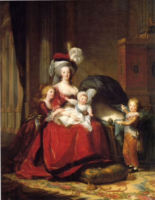 Paintings Reproductions Vigee-Lebrun, Elisabeth  Queen Marie-Antoinette and Her Children, 1787
