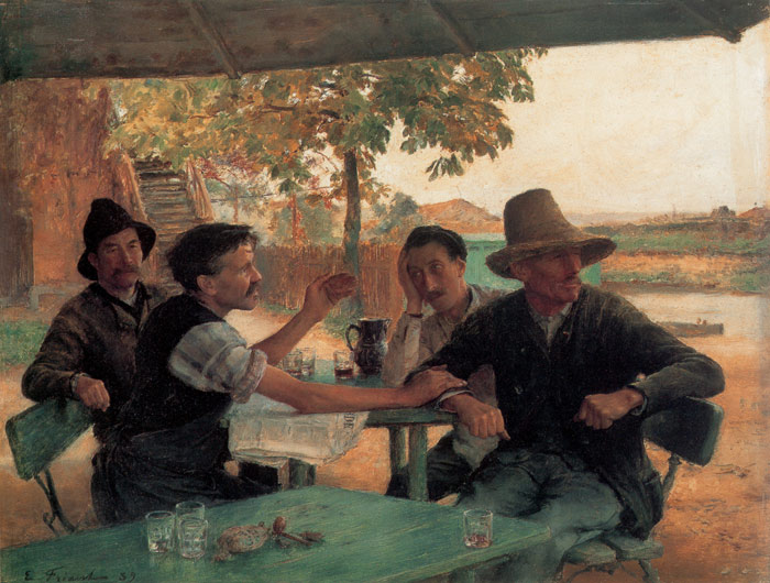 Emile Friant Reproductions-La Discussion politique [Political Discussion], 1889