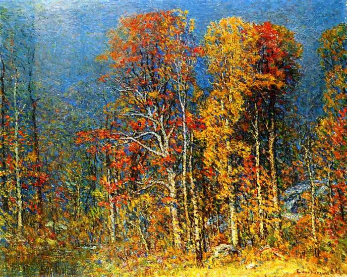 John J Enneking Reproductions-Fall Landscape , 1913