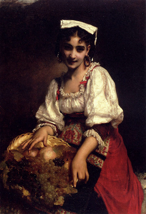 Etienne Adolphe Piot  Reproductions-An Italian Beauty, 1874