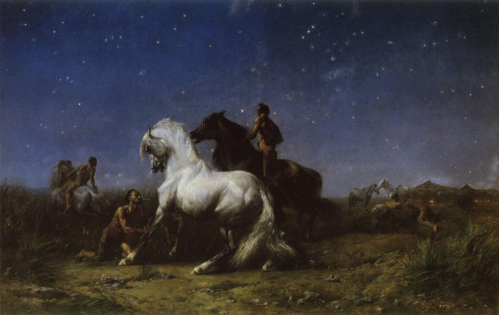 Paintings Reproductions Fromentin, Eugene Voleurs De Nuit [Night Robbers], 1865