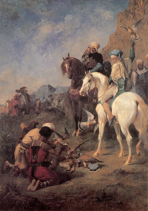 Paintings Reproductions Fromentin, Eugene Falcon Hunting in Algeria, 1862