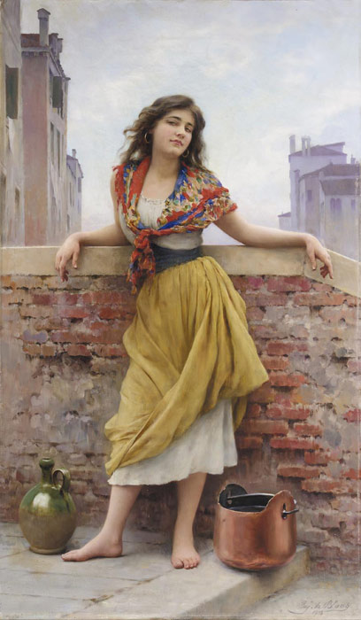 Eugene de Blaas Reproductions- The Watercarrier,1908