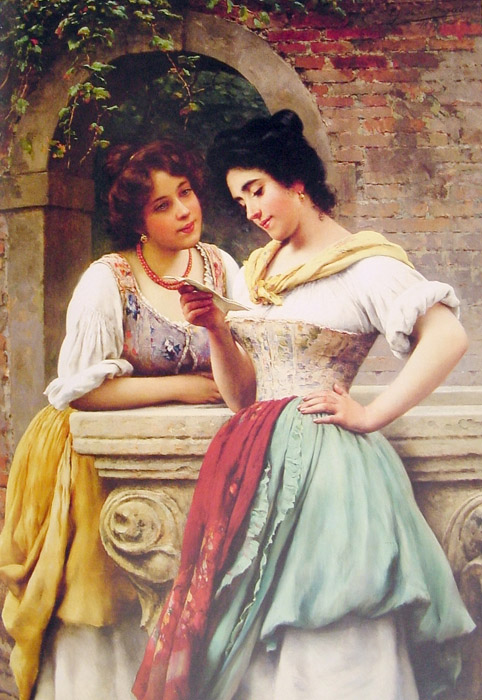 Paintings Reproductions Blaas, Eugene de Shared Correspondance, 1899