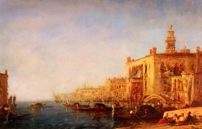 Paintings Reproductions Ziem, Felix Venise, Le Grand Canal [Venice, the Grand Canal]
