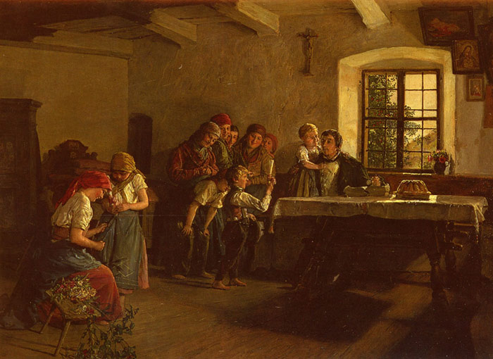 Center of Attention Waldmuller, Ferdinand Georg Painting Reproductions