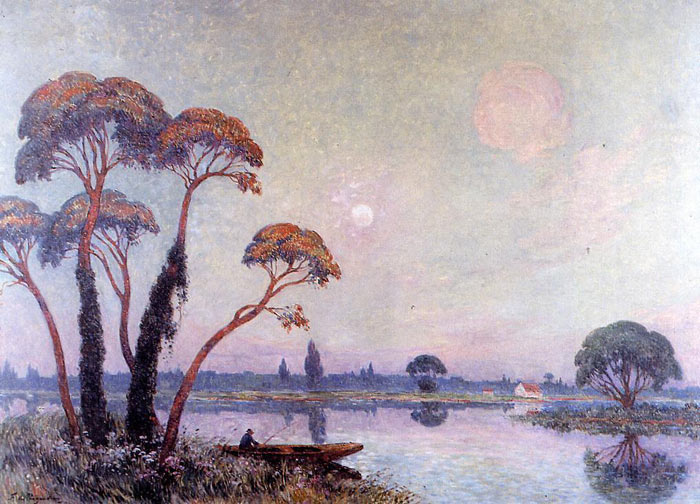 Paintings Reproductions Puigaudeau, Ferdinand Loyen Du Fishermen by the Banks of the Loire