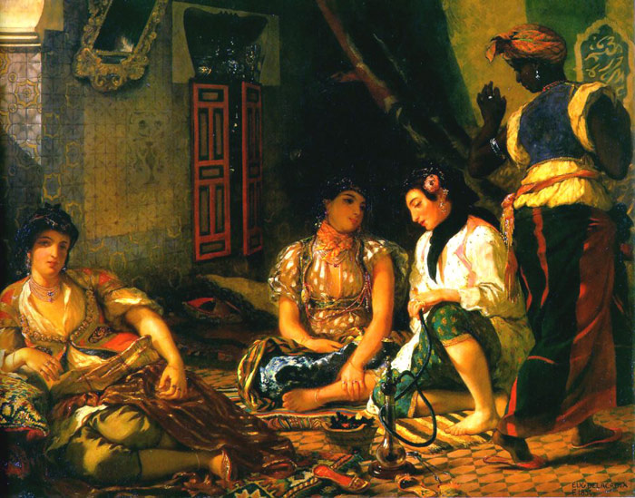 Ferdinand Victor Eugene Delacroix Reproductions-Women of Algiers in their Apartment, 1834