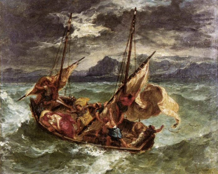 Ferdinand Victor Eugene Delacroix Reproductions-Christ on the Lake of Gennezaret, 1854