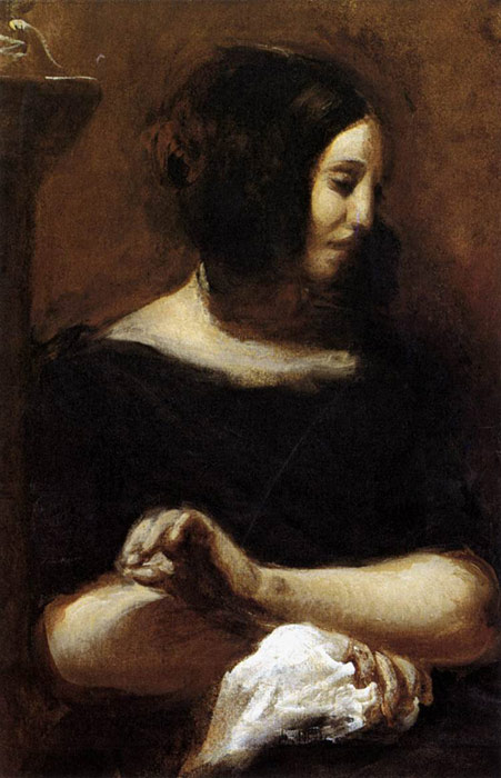 Ferdinand Victor Eugene Delacroix Reproductions-George Sand, 1838