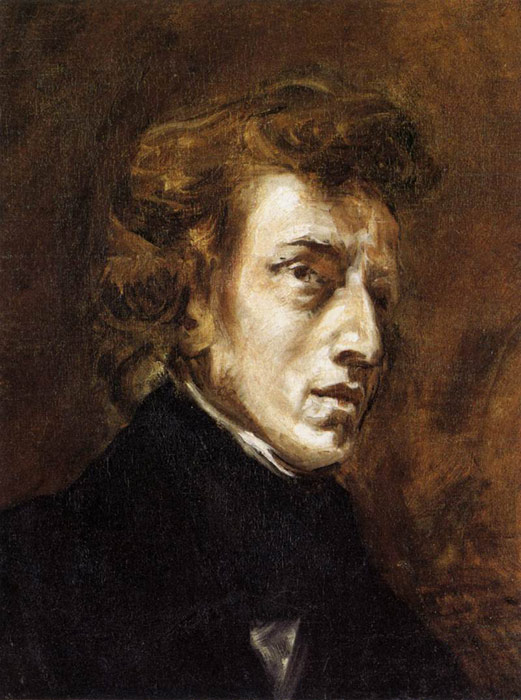 Ferdinand Victor Eugene Delacroix Reproductions-Frederic Chopin, 1838