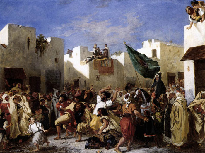 Ferdinand Victor Eugene Delacroix Reproductions-The Fanatics of Tangier, 1837-1838