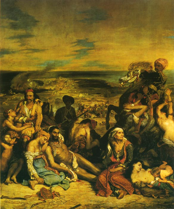 Ferdinand Victor Eugene Delacroix Reproductions-The Massacre at Chios