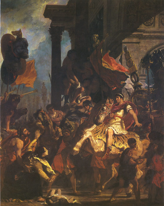 Ferdinand Victor Eugene Delacroix Reproductions-The Justice of Trajan