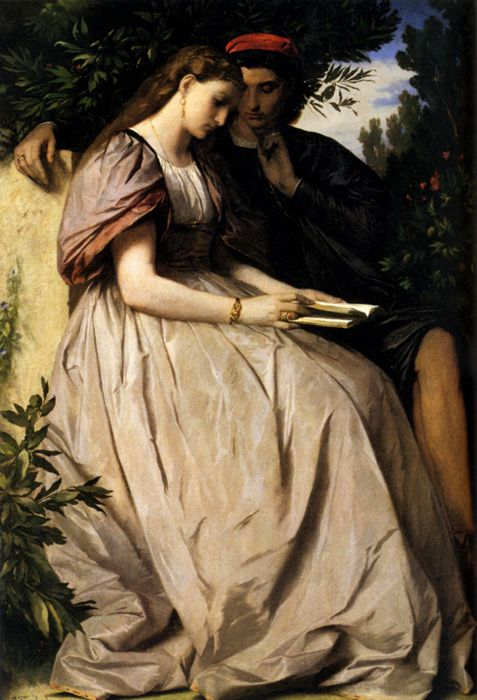 Anselm Feuerbach Reproductions-Paolo and Francesca, 1864