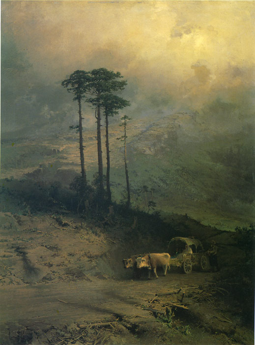 Paintings Reproductions Vasilyev, Fiodor Aleksandrovich In the Mountains of Crimea, 1873