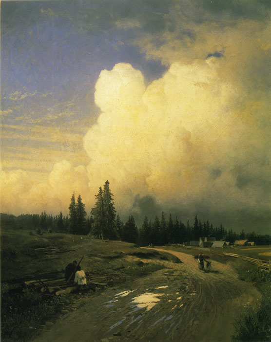 Paintings Reproductions Vasilyev, Fiodor Aleksandrovich After a Thunderstorm, 1868