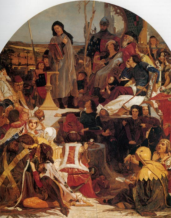 Ford Madox Brown Reproductions-Chaucer at the Court of Edward III, 1846-1851