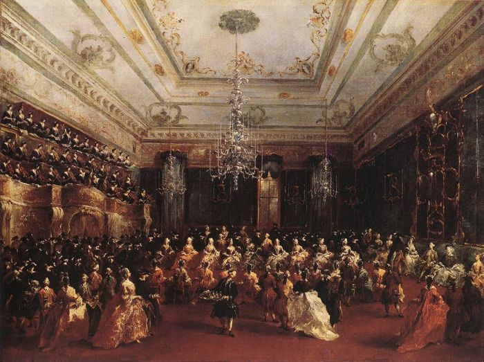 Paintings Reproductions Guardi, Francesco Ladies Concert at the Philharmonic Hall, 1782