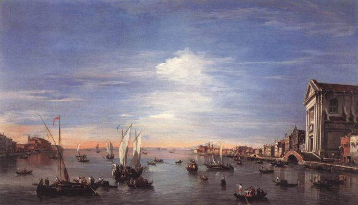 Francesco Guardi Reproductions-The Giudecca Canal with the Zattere, 1759