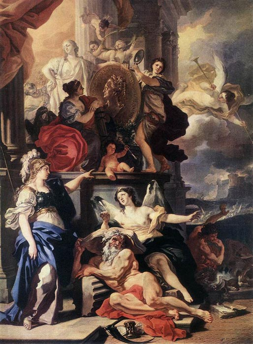Francesco Solimena Reproductions-Allegory of Reign, 1690