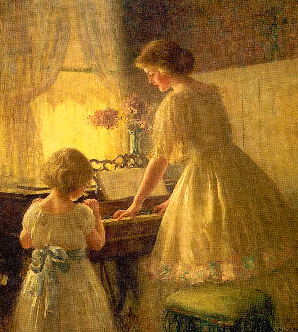 Francis Day Reproductions-The Piano Lesson, 1895