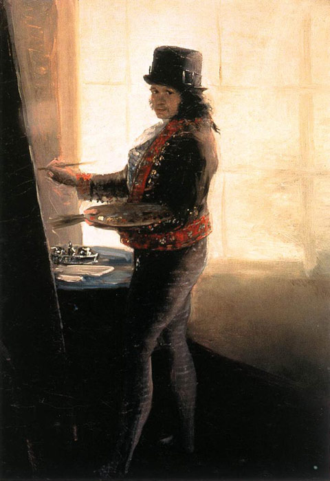 Francisco de Goya  Reproductions-Self-Portrait in the Workshop, 1790-1795