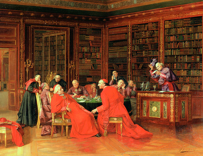 Paintings Reproductions Brunery, Francois A Tedious Conference