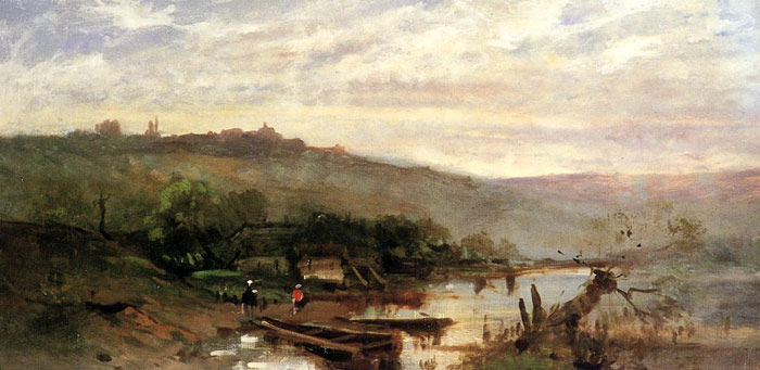 Paintings Reproductions Duveneck, Frank Landscape at Polling, c.1876