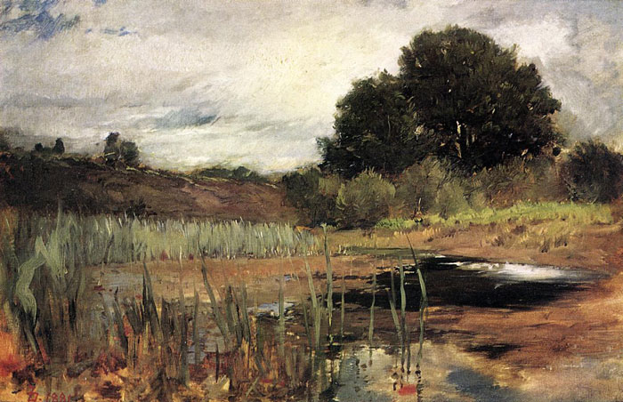 Paintings Reproductions Duveneck, Frank Polling Landscape, 1881