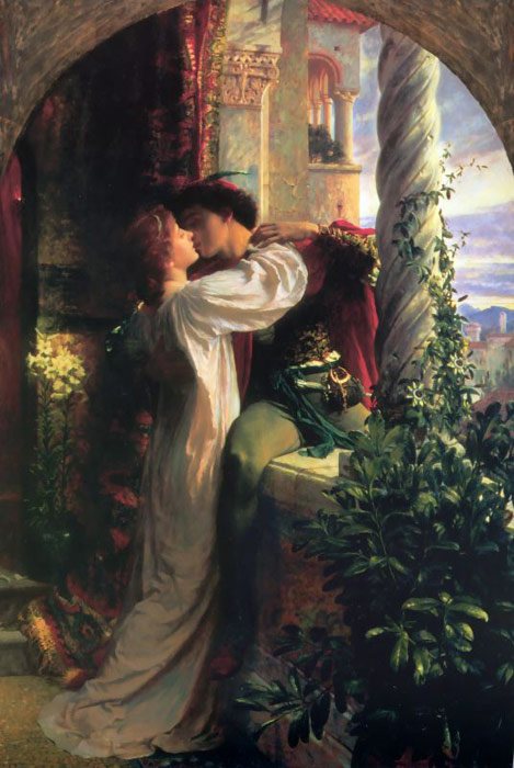 Sir Frank Francis Bernard Dicksee Reproductions-Romeo and Juliet, 1885