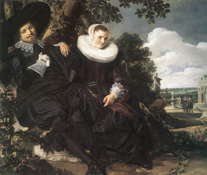 Paintings Reproductions Hals, Frans Married Couple in a Garden, c.1622