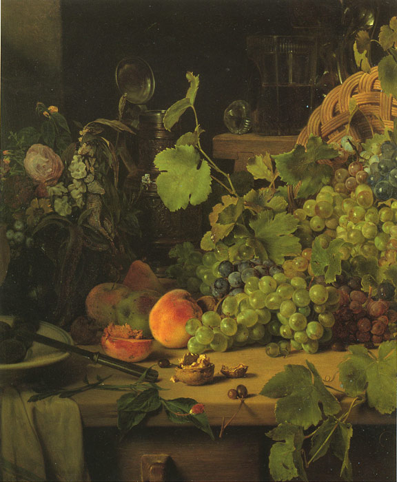 Картины Репродукции EYBL, Франц Stilleben MIT Pokalen унд Fruchten, 1850