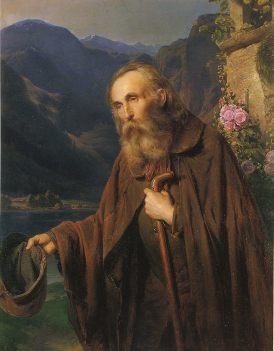 Картины Репродукции EYBL, Франц Ein Bettler, 1856