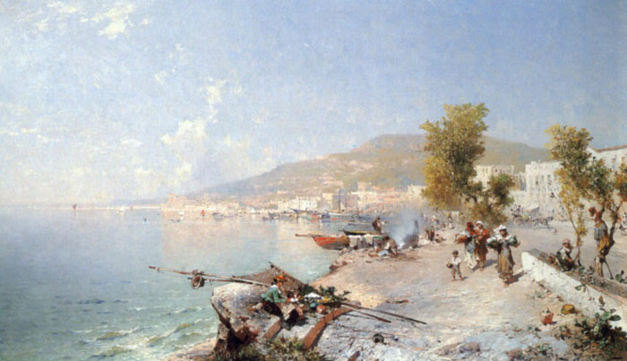 Paintings Reproductions Unterberger, Franz Richard Vietri Sul Mare, Looking Towards Salerno