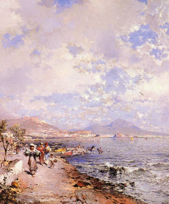 Franz Richard Unterberger Reproductions-The Bay of Naples