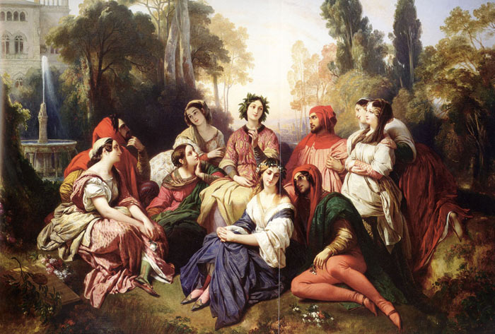 The Decameron, 1837 Winterhalter, Franz Xavier Painting Reproductions