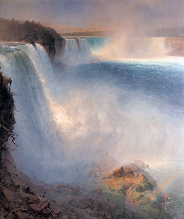 Frederic  Church Reproductions-Niagara Falls, from the American Side