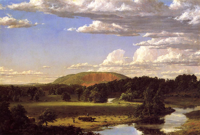 Frederic  Church Reproductions-West Rock, New Haven, 1849