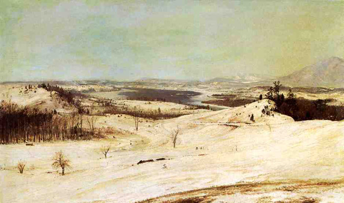 Frederic  Church Reproductions-View from Olana in the Snow, 1870-1873