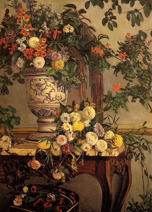 Frederick Bazille Reproductions-Flowers, 1868