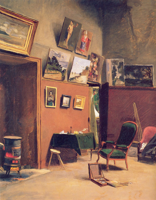 Frederick Bazille Reproductions-Studio in the rue de Furstenberg, 1865