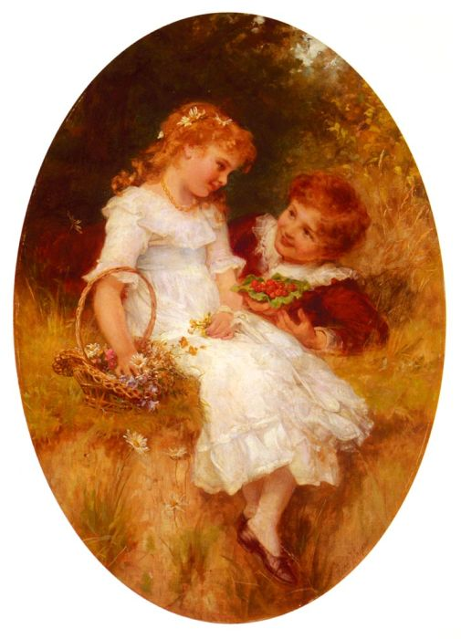 Frederick Morgan Reproductions-Childhood Sweethearts