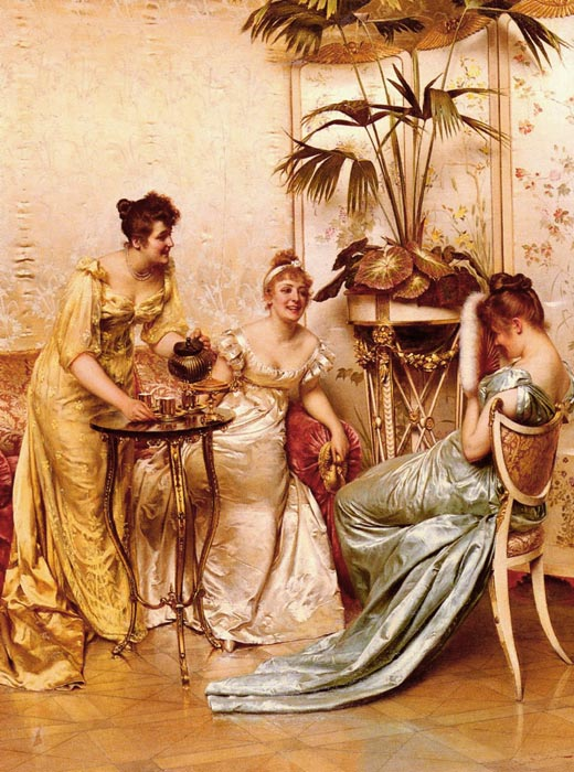 Frederick Soulacroix Reproductions-The Tea Party