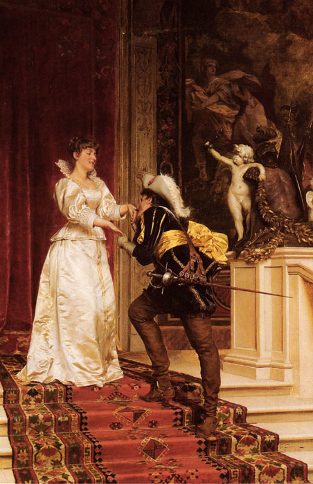 Frederick Soulacroix Reproductions-The Cavalier's Kiss
