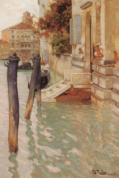 Frits Thaulow Reproductions-On The Grand Canal, Venice, 1885