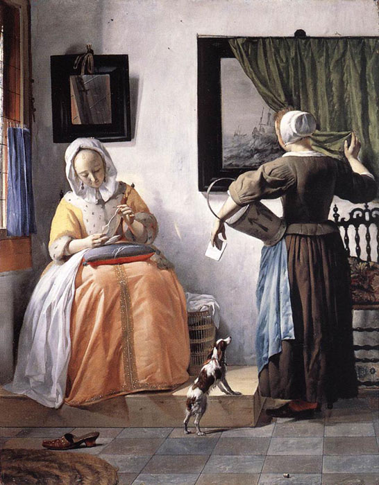 Paintings Reproductions Metsu, Gabriel Woman Reading a Letter, 1662-1665