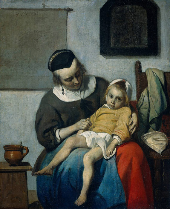Paintings Reproductions Metsu, Gabriel The Sick Child, c.1660-1665