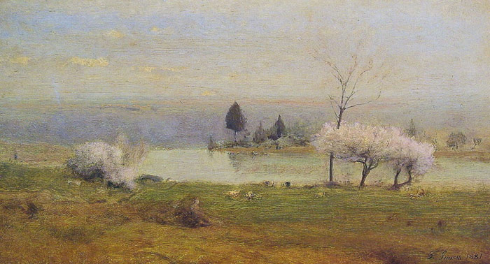 Paintings Reproductions Inness, George Pond at Milton on the Hudson, 1881